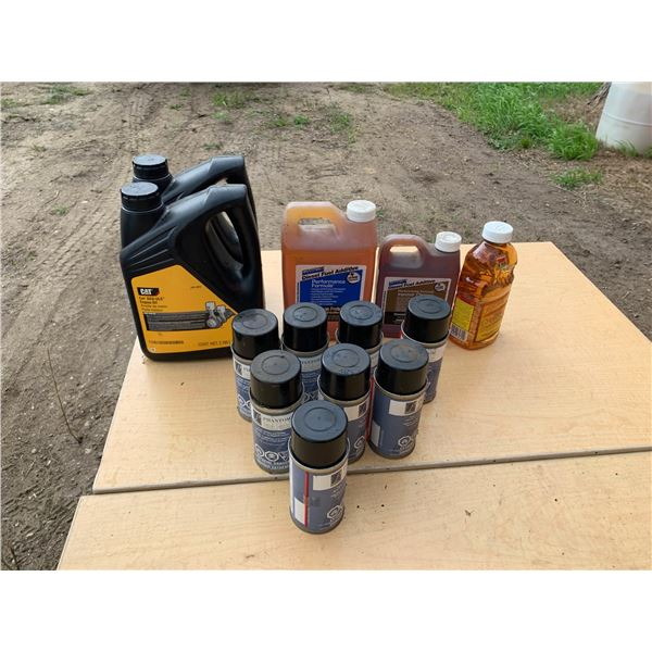 CAT ENGINE OIL, HOWES DIESEL CONDITIONER; SILICON SPRAY LUBE
