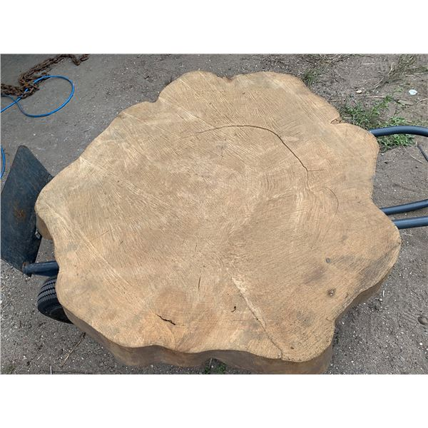 APPROXIMATELY 3 FT X 3 FT X 5-INCH WOOD SLAB