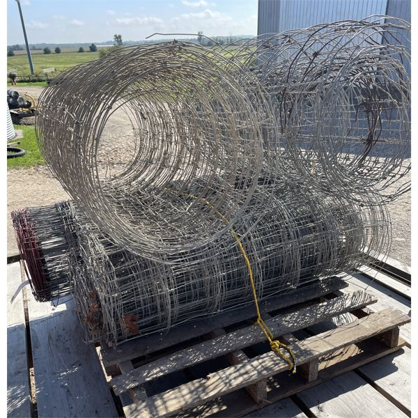 SKID LOT - PAGE WIRE - 1 X NEW FULL ROLL & 3 X PARTIAL ROLLS.
