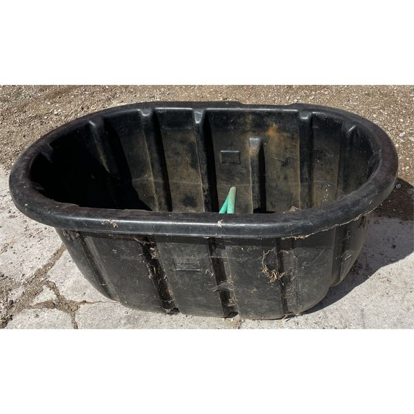 POLY WATER TROUGH W/ 2 FLOATS - 50 GAL ?