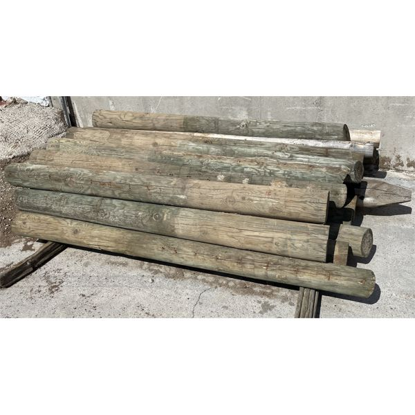 LOT OF APPROX 30 - 7 FOOT FENCE POST - 7 INCH DIAMETER