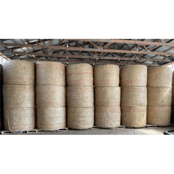 LOT OF 36 - 4 X 5 FOOT 2020 WHEAT STRAW - STORED INDOORS