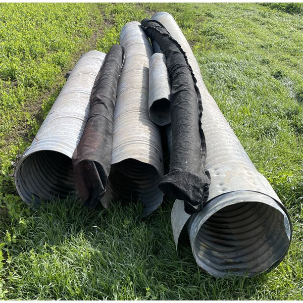 JOB LOT - MISC CULVERTS - 20 INCH X 22.5 FOOT, 18 INCH X 20 FOOT, 18  X 10 FOOT, ETC - INCL JOINERS