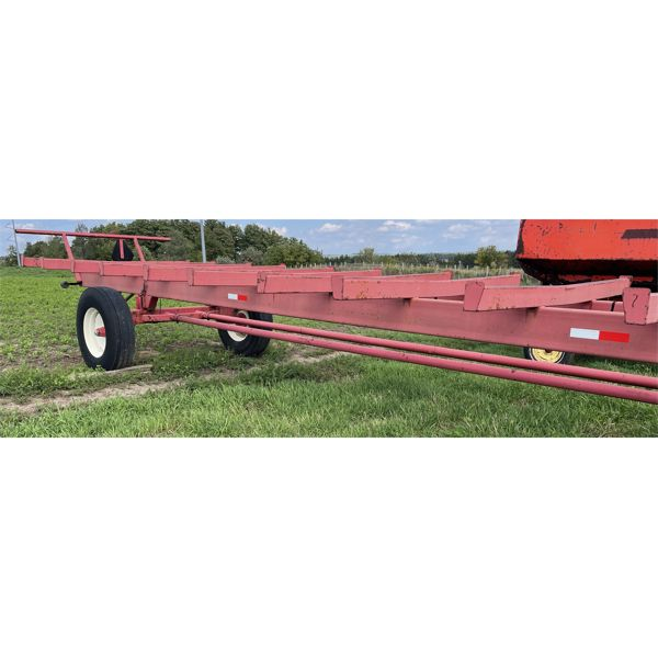HORST 30 FOOT ROUND BALE WAGON WITH LIGHTS