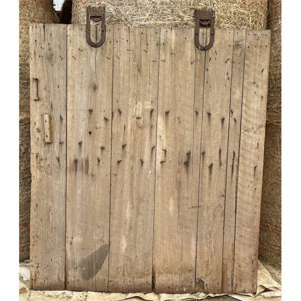 ANTIQUE BARN DOOR - 5.5 X 6 FOOT - WITH HARDWARE