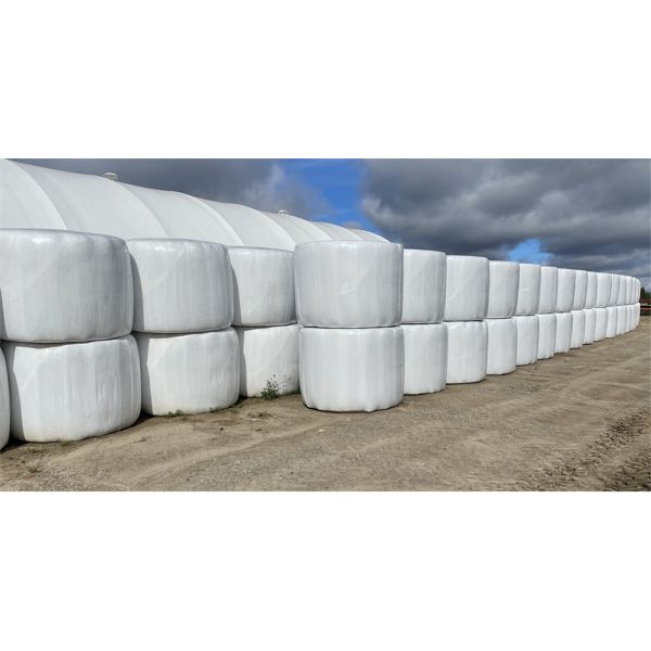 LOT OF 25 - 2021 4 X 5 FOOT WRAPPED HAY BALES