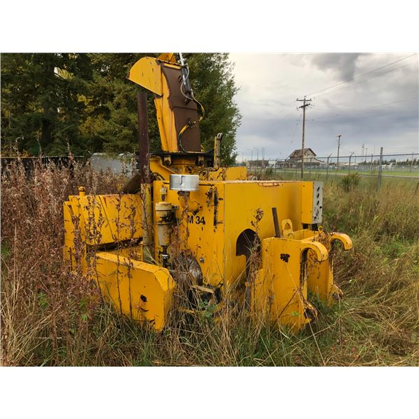 1968 SICARD SINGLE AUGER SNOW BLOWER WITH JOHN DEERE 6CYL 185HP ENGINE FOR 950 LOADER,
