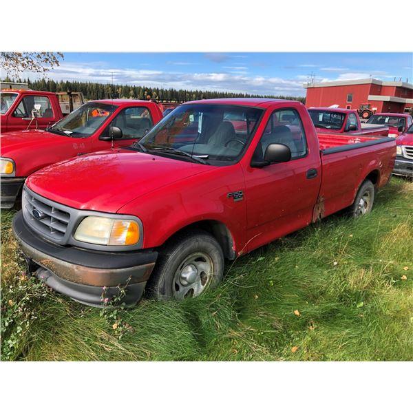 2002 FORD XL, 2DR, REGULAR CAB PU, RED, VIN#2FTRF17W12CA24910
