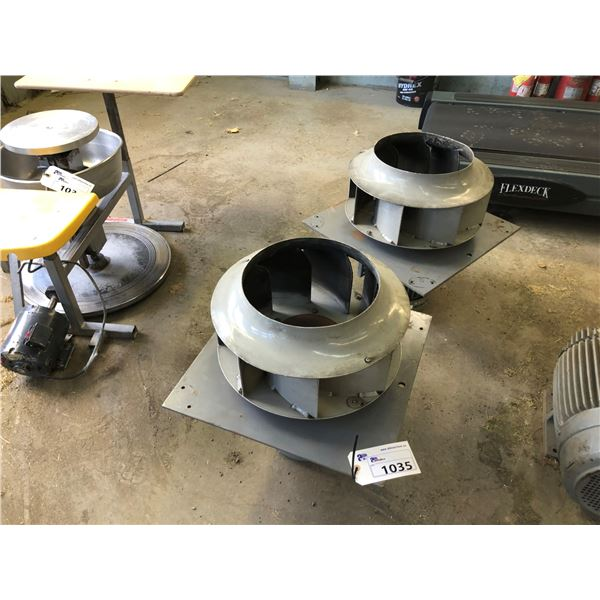2 ELECTRIC FANS WITH MOTORS