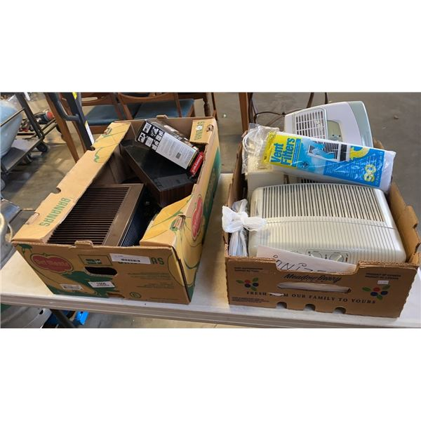 2 BOXES OF IONIZERS AND FILTERS
