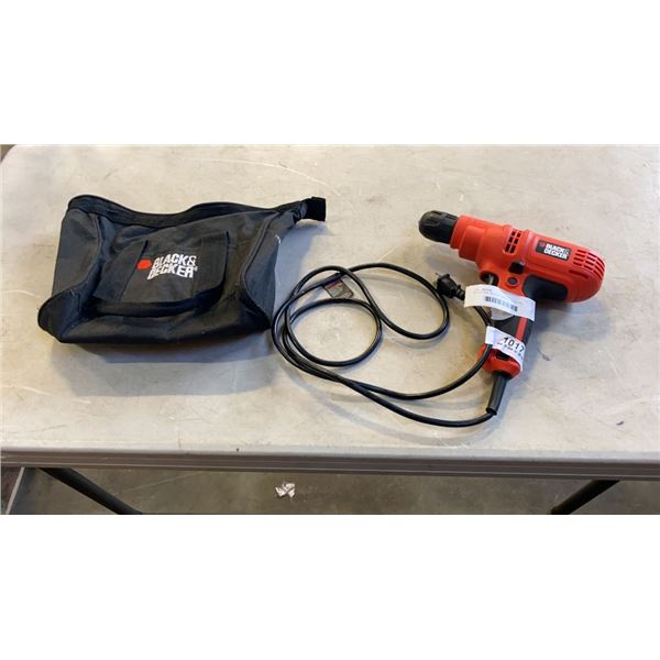 BLACK AND DECKER 3/8 INCH ELECTRIC DRILL