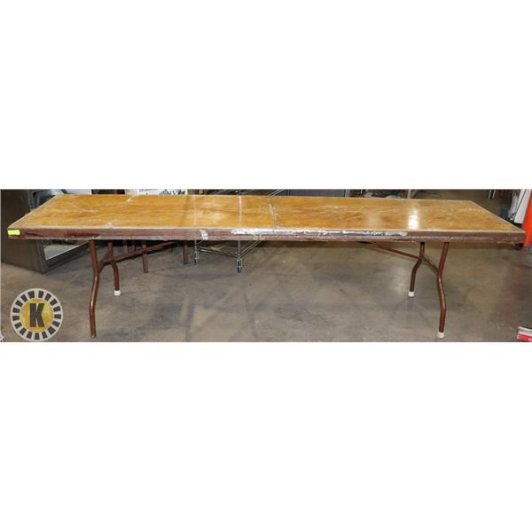 """TABLE WITH FOLDABLE LEGS 120"""" BY 30"""" BY 30.5"""""""