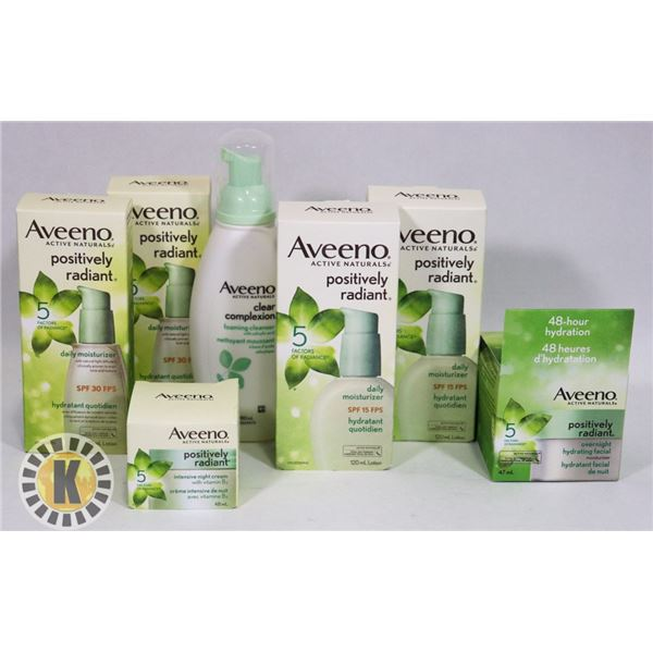 BAG OF ASSORTED AVEENO HAIR PRODUCT