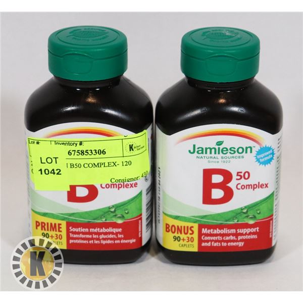 2 JAMIESON B50 COMPLEX- 120 CAPLETS