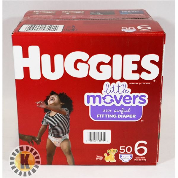 CASE OF HUGGIES SIZE 6