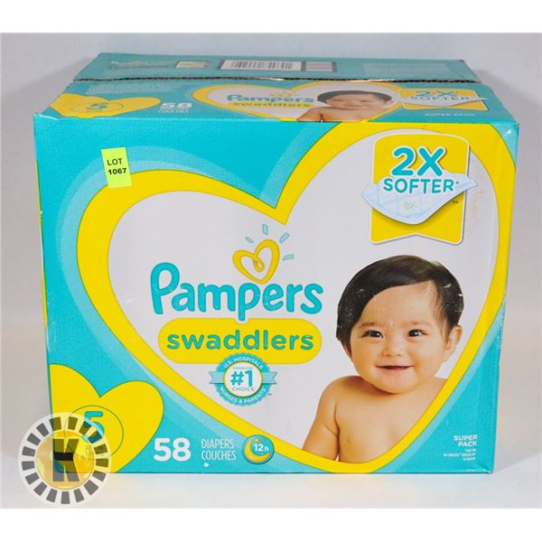 CASE OF PAMPERS SIZE 5