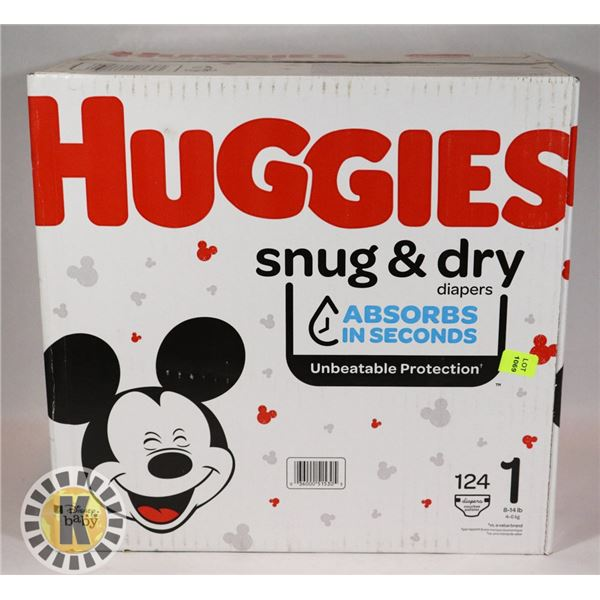 CASE OF HUGGIES SIZE 1