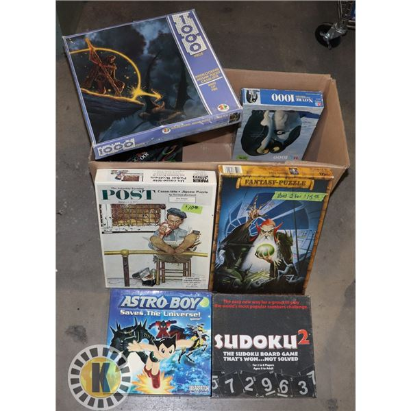 ESTATE BOX OF BOARD/NUMBERS GAMES