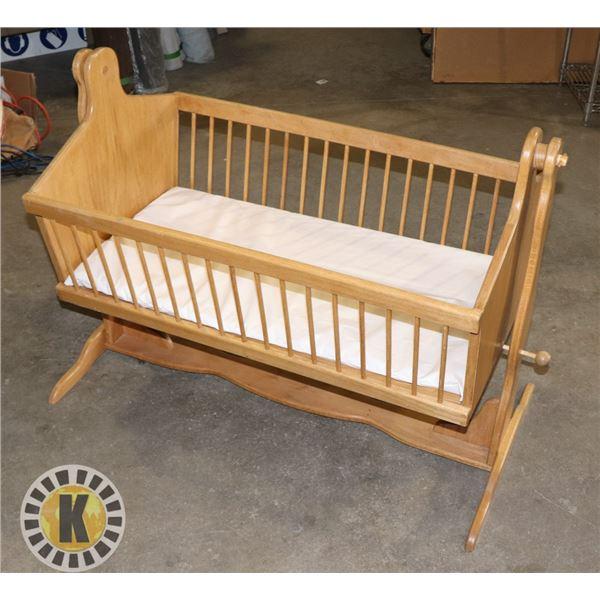 LARGE BABY ROCKING BED