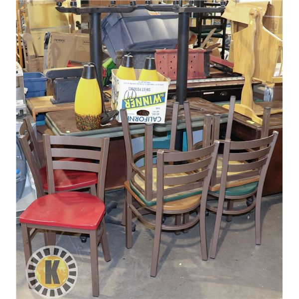 LOT OF 4 COMMERCIAL RESTAURANT TABLES WITH
