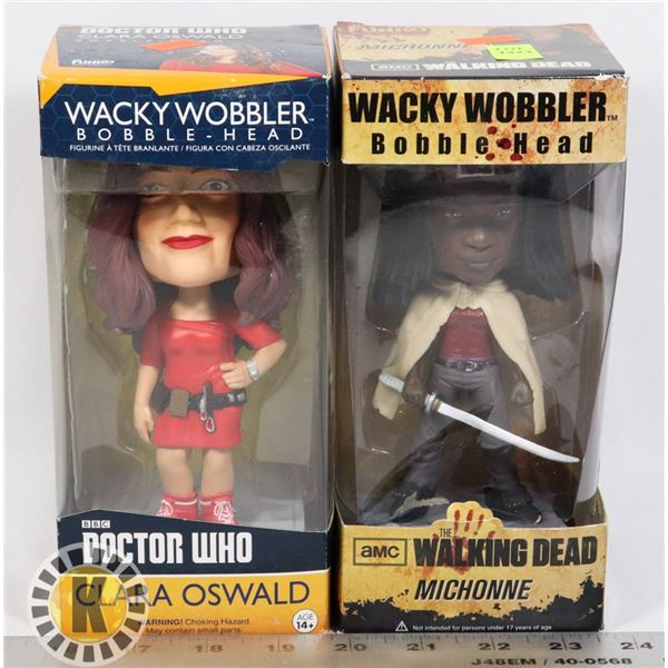 WALKING DEAD AND DOCTOR WHO BOBBLE HEADS