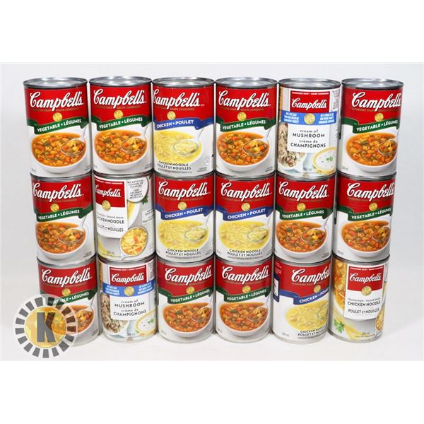 BOX OF ASSORTED CAMPBELLS SOUP