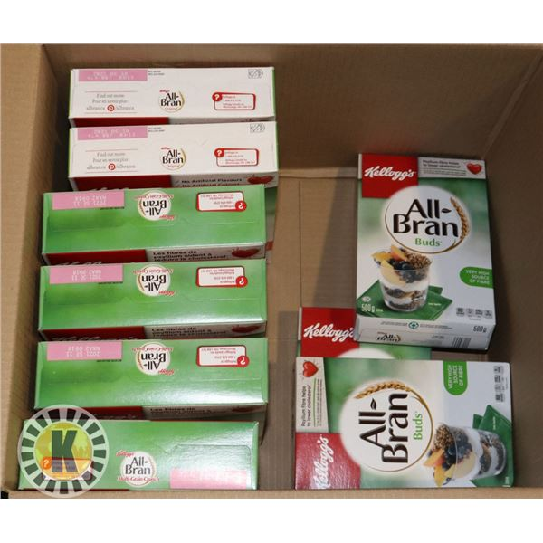 BOX OF ALL BRAN CEREAL