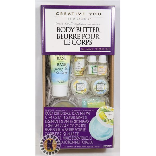 NEW CREATE BODY BUTTER CREATE KIT, PEPPERMINT,