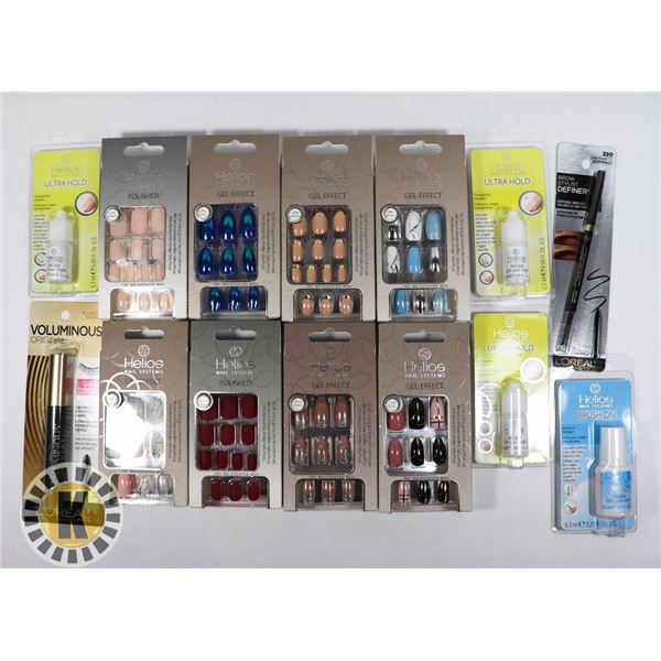 BAG OF ASSORTED BEAUTY PRODUCTS