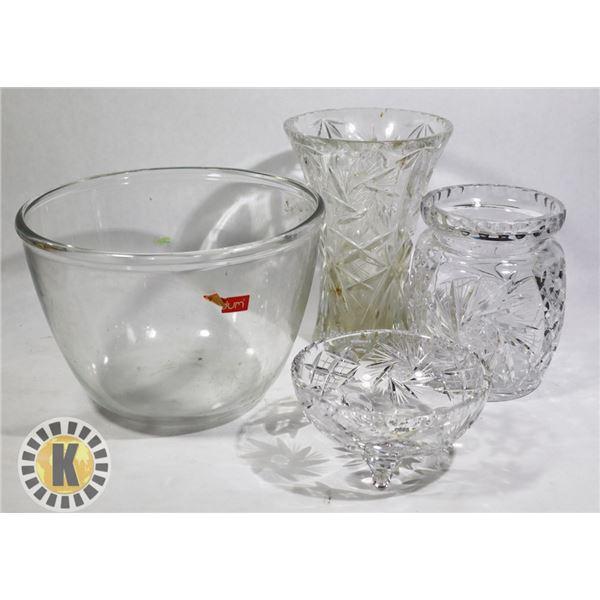 6 CRYSTAL GLASSWARE