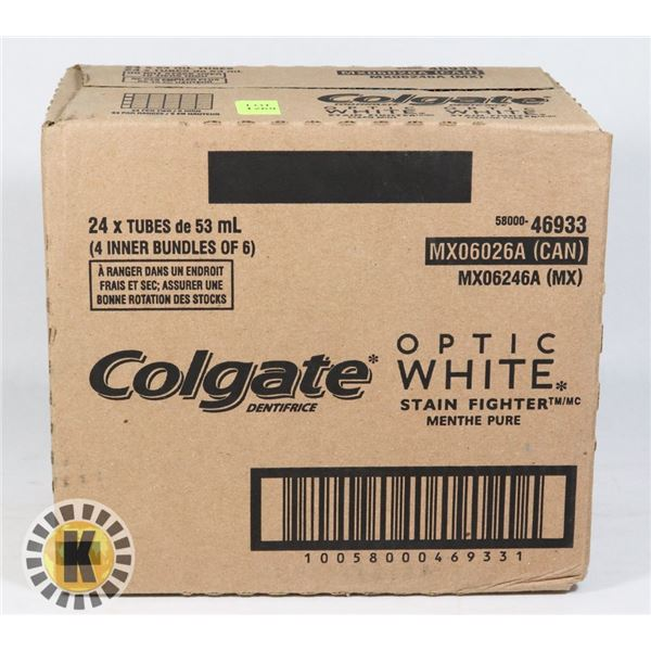 CASE OF COLGATE OPTIC WHITE TOOTHPASTE