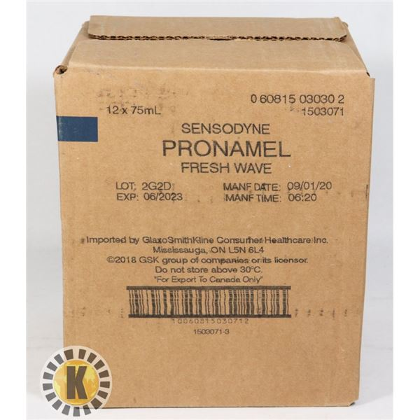 CASE OF SENSODYNE PRONAMEL TOOTHPASTE