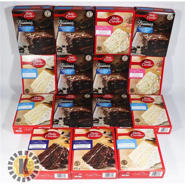 FLAT OF BETTY CROCKER CAKE MIX