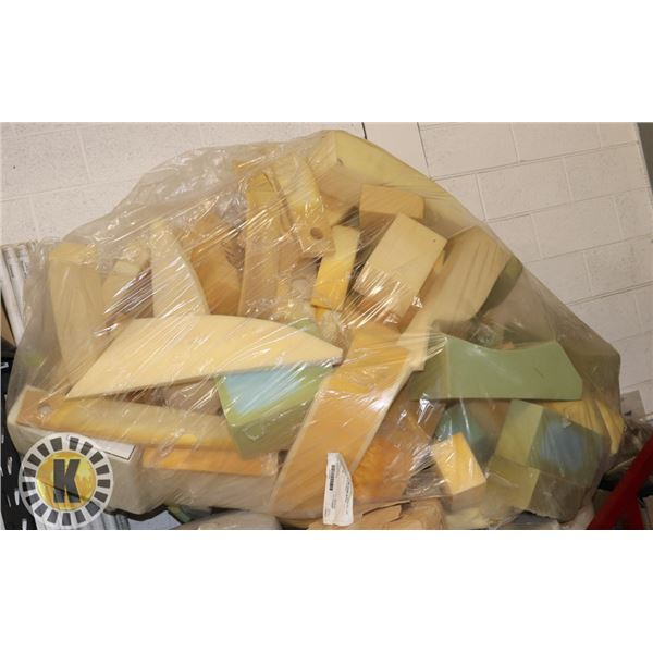 HUGE BAG OF ASSORTED FOAM PIECES FOR FURNITURE