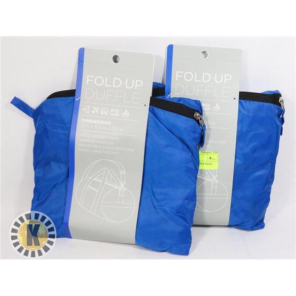 2 NEW FOLDABLE DUFFLE BAGS