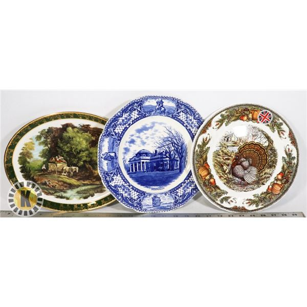 LOT OF THREE MADE IN ENGLAND COLLECTOR PLATES