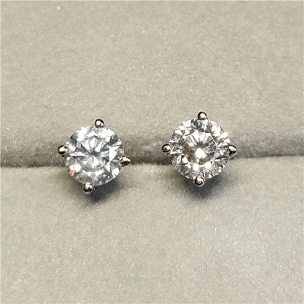 14K WHITE GOLD DIAMOND (SI, I-J, 0.54CT)  EARRINGS