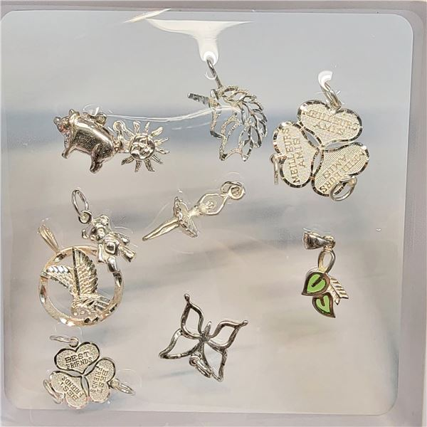 SILVER SMALL CHARMS SET