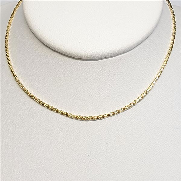 10K YELLOW GOLD  NECKLACE(~LENGTH 17INCHES)