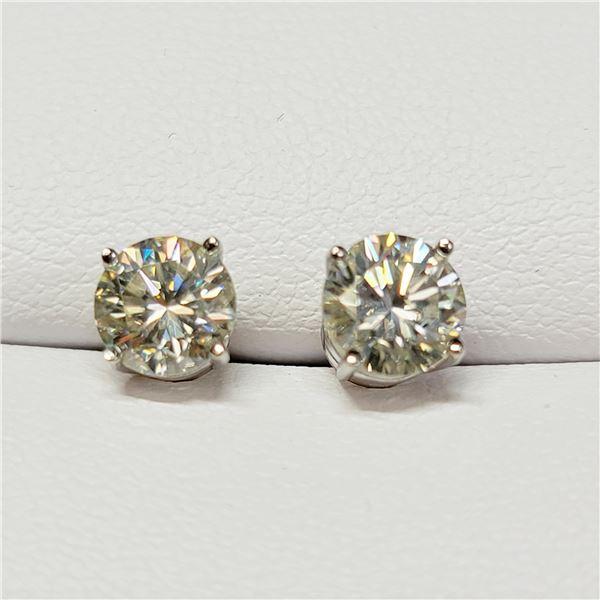 14K WHITE GOLD 2 DIAMOND (0.72 CT,G-H, I-2)