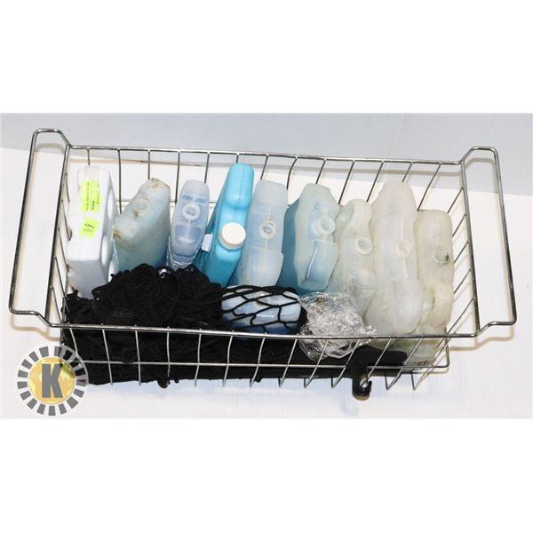 METAL BASKET WITH ICE-PACKS