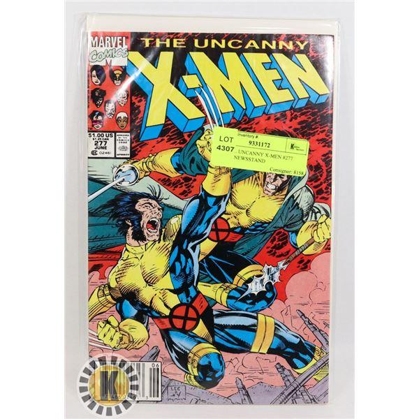 MARVEL UNCANNY X-MEN #277 COMIC, NEWSSTAND
