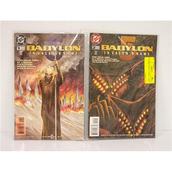 DC COMICS BABYLON ISSUE 1 AND 2