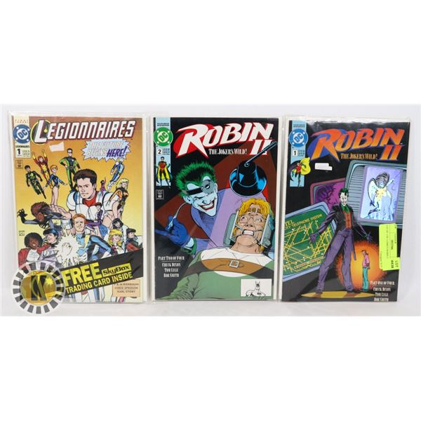 LOT OF 3 DC COMICS ROBIN 2