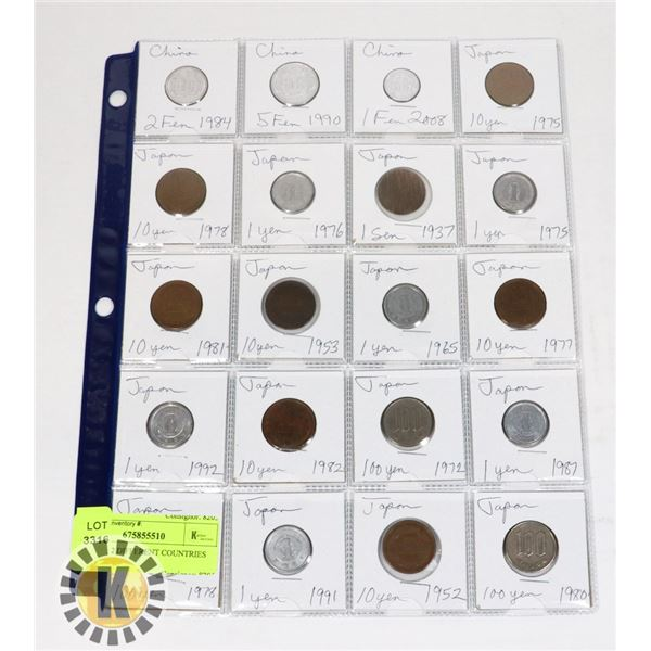 20 COINS 2 DIFFERENT COUNTRIES