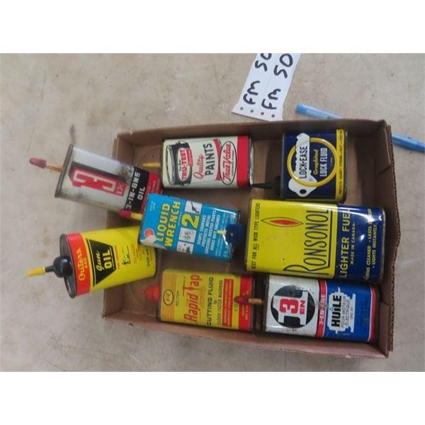 8 Household Oil TIns