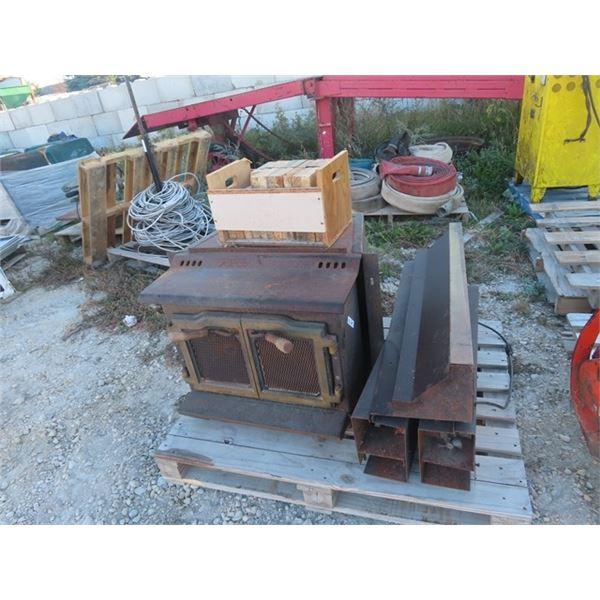(BL) 2 D Woodheater w Bricks