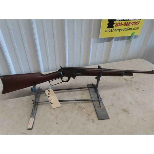 """SL22 Marlin 1893 LA 30-30 BL=18"""" S#303787 Stock Cracked & repaired Screw Missing from Forewood, Fron"""