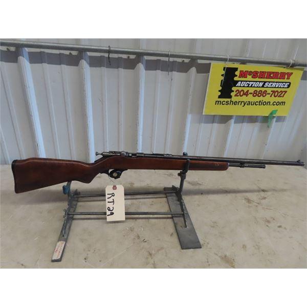 "RT29 Cooey Mdl 600 BA .22 S,L,LR BL=24"" Broken Internal Parts, Rifle Does Not Work, Broken Stock , T"