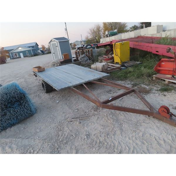 Originally a Boat Trailer w 8' Flat Deck - Needs a Hitch Connector